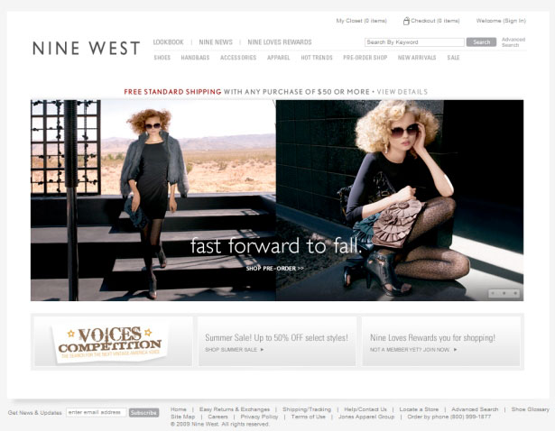 nine west - West Website