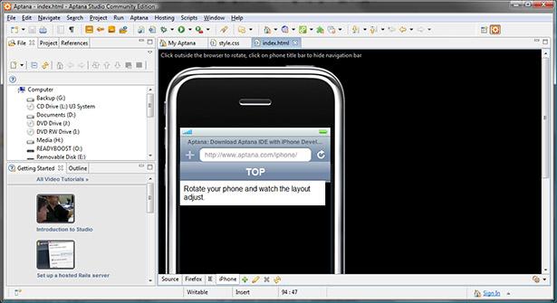aptana studio portable apps