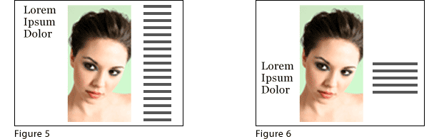 examples of layout, before and after
