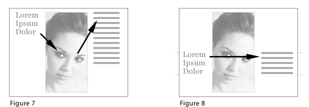 direction of flow in layouts