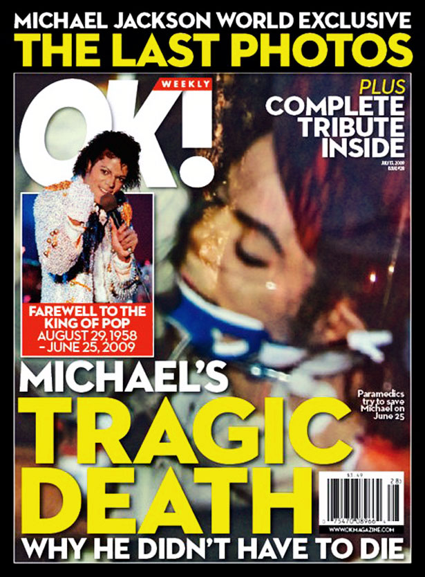 Black Porn Magazines 1971 - OK Magazine, June 2009: Michael Jackson Death Photo