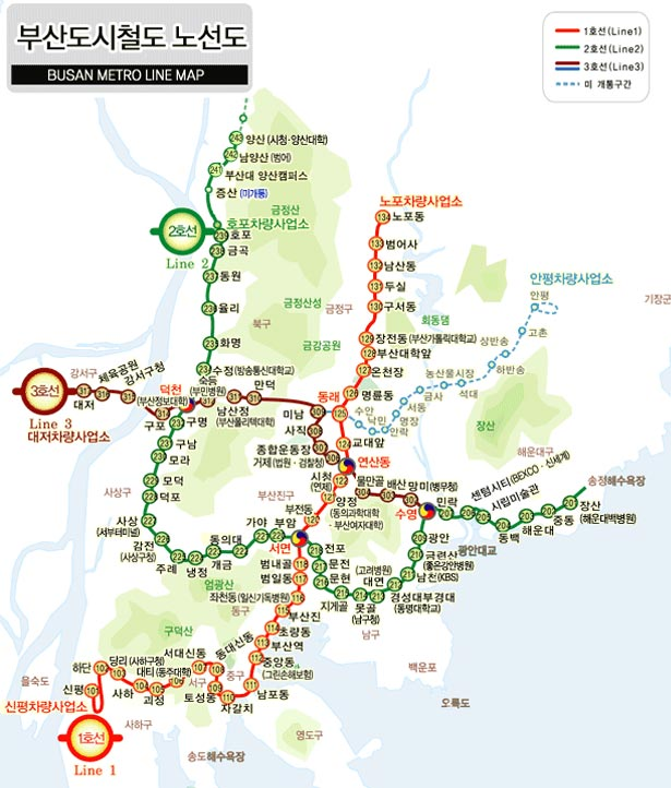 Subway Map Of Busan.Design Around The World Metro Maps Webdesigner Depot