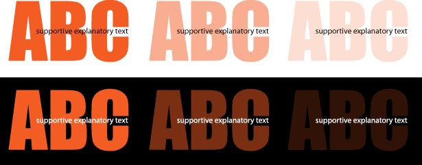 examples how big text can fade