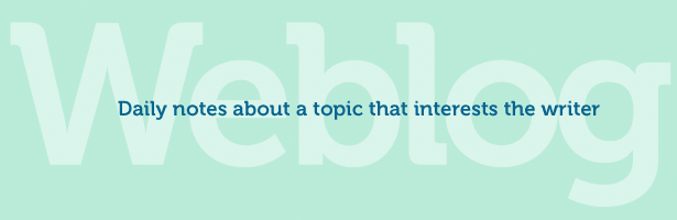 generic blog title set in harmless mint green