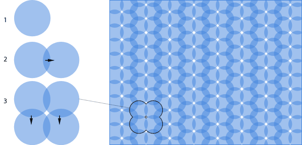 pattern example created from duplicating a normal layer
