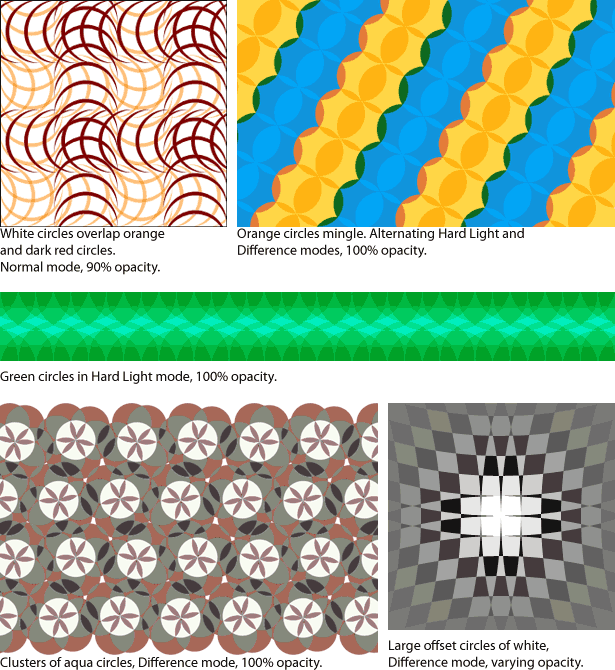 various colorful pattern examples