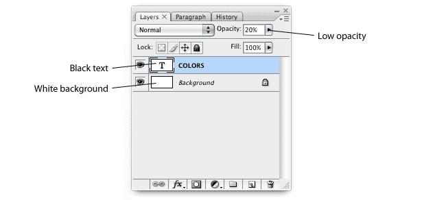 palette, step 1