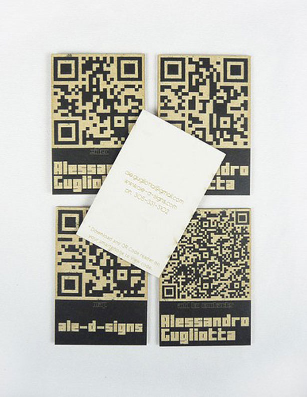 30 Creative QR code business cards | Webdesigner Depot