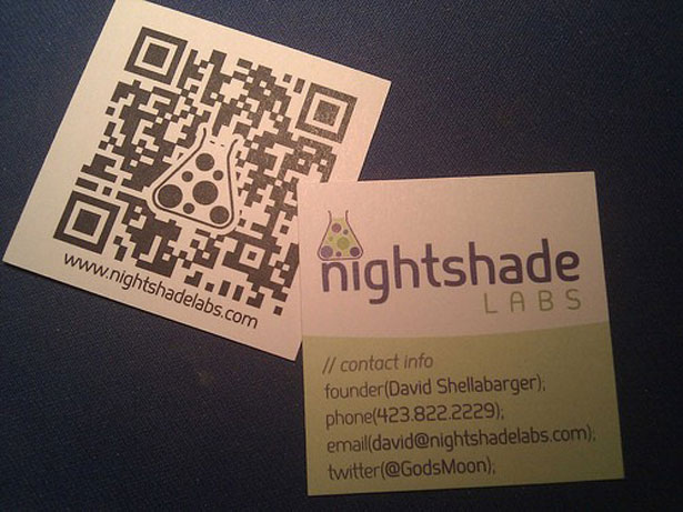 30 creative qr code business cards webdesigner depot nightshade labs reheart Choice Image