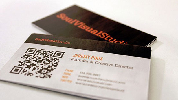 30 creative qr code business cards webdesigner depot soul visual these cards put colourmoves