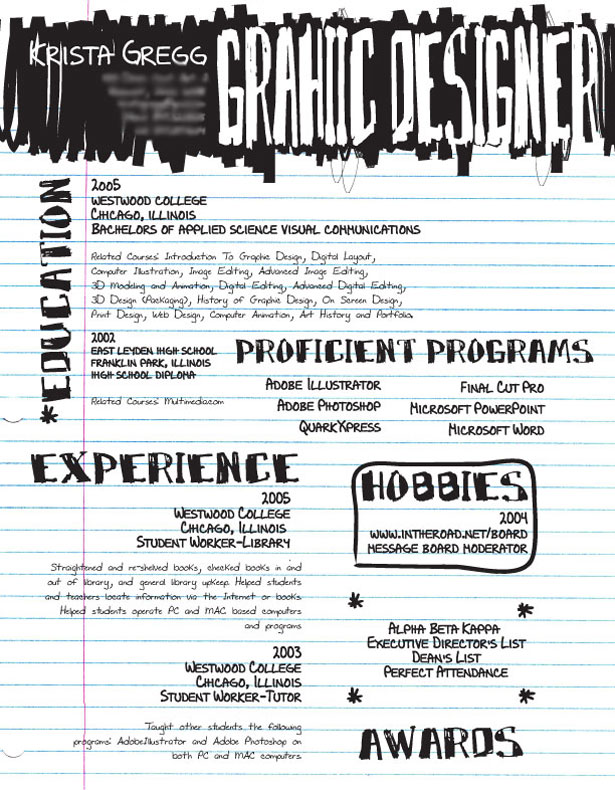 30 Artistic And Creative Resumes Webdesigner Depot