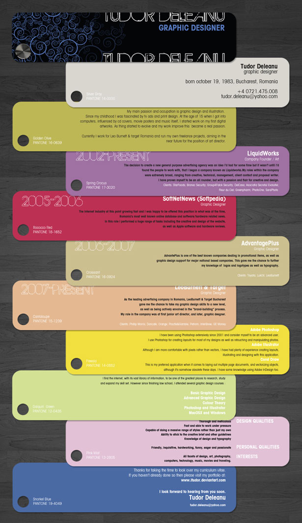 30 Artistic And Creative Rsums Webdesigner Depot