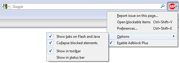 Ad Block Plus for Firefox.