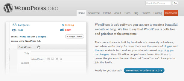 The WordPress CMS.