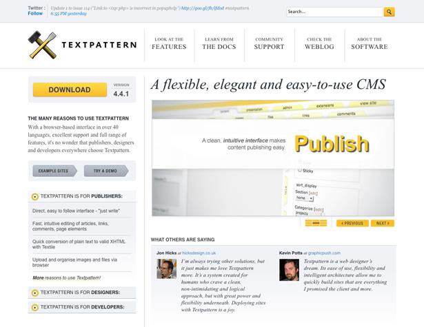 Top 10 Content Management Systems Webdesigner Depot