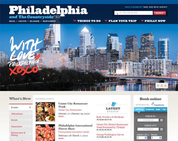 visitphilly.com redesigned