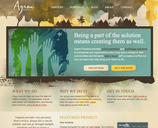 A Showcase of Watercolor in Web Design | Webdesigner Depot
