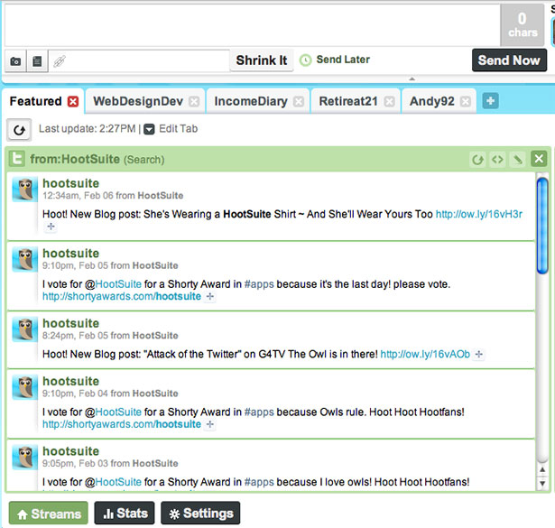 HootSuite App Interface