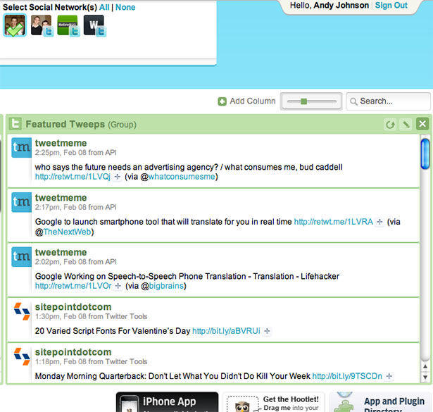 HootSuite App Interface