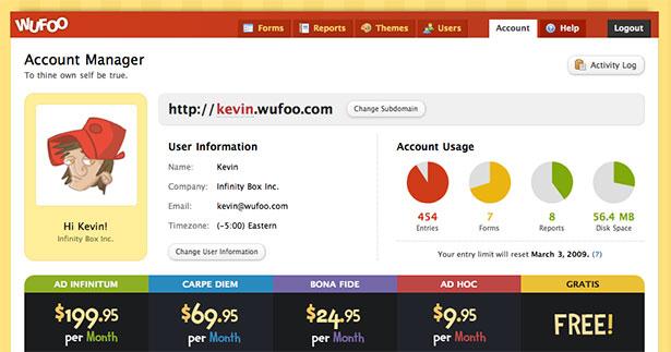 Wufoo App Interface