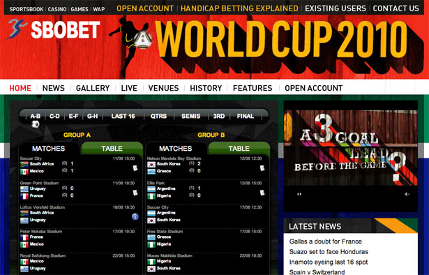 SBO  Bet World Cup