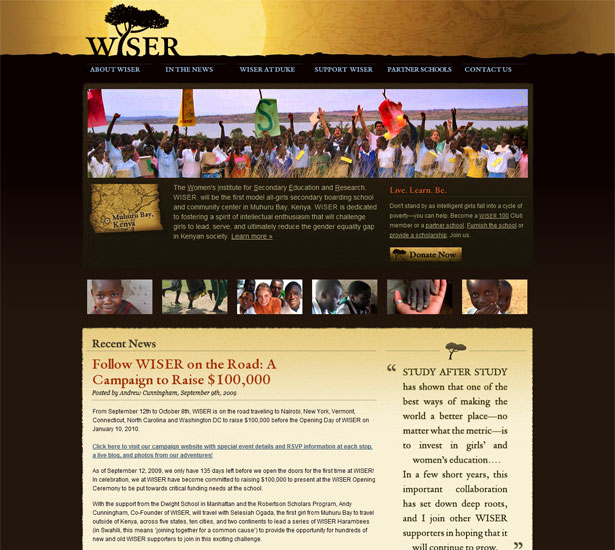 African Inspired Website
