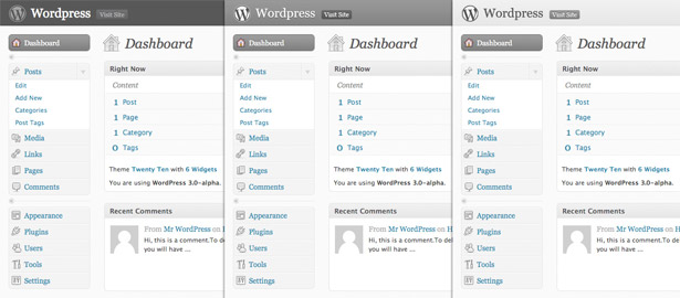 WordPress Mockup Comparisons
