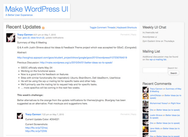 WordPress UI Group Homepage