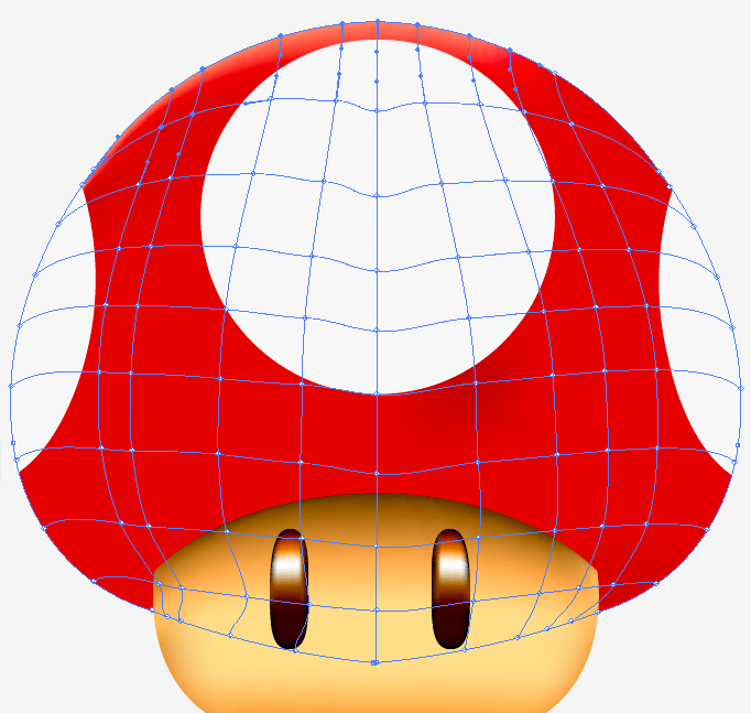 how to add highlight point to gradient mesh