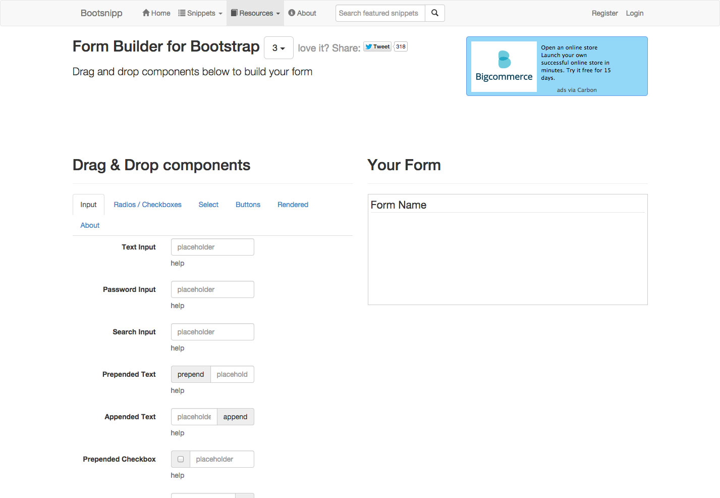 bootsnip form builder
