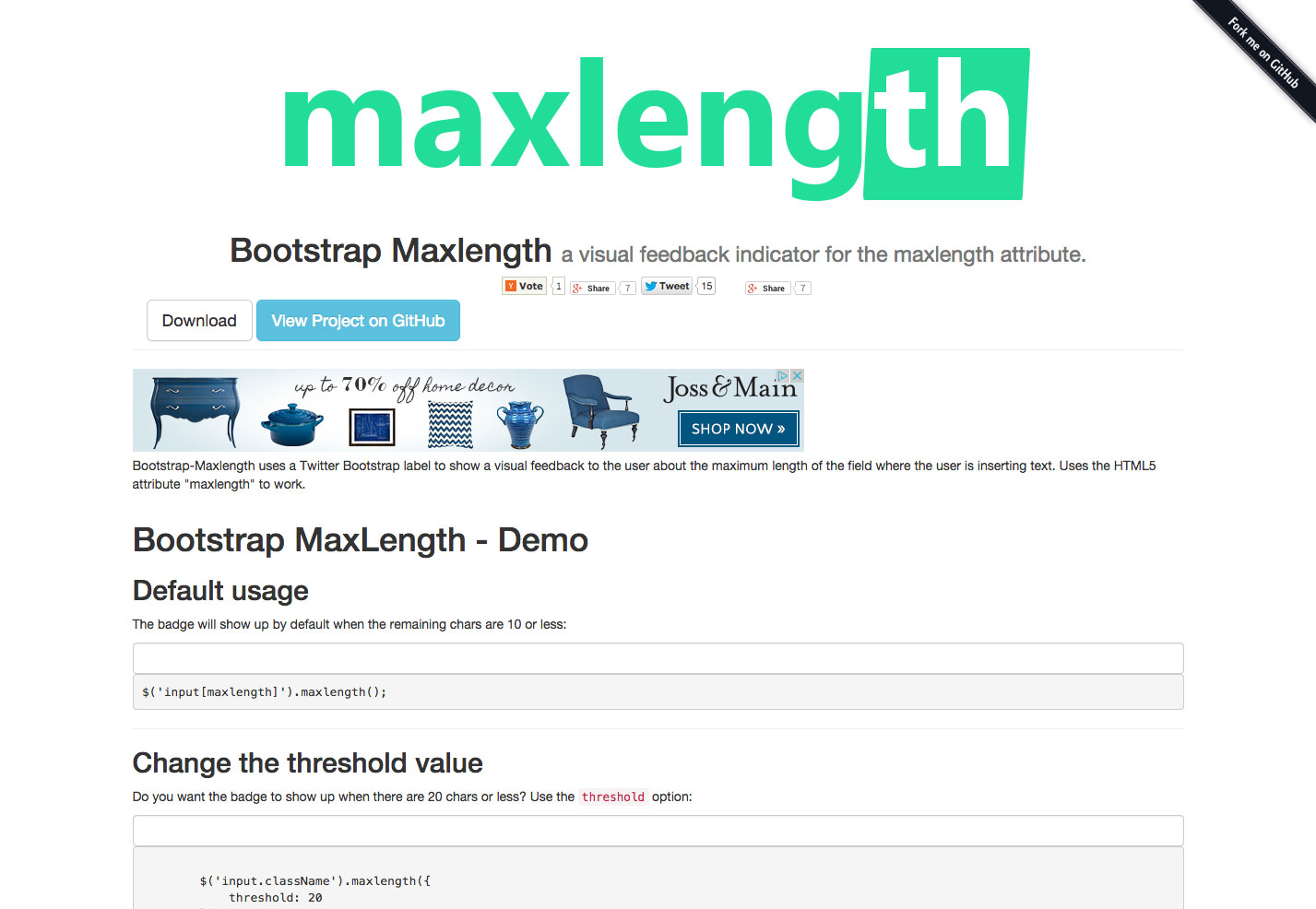 boostrap maxlength