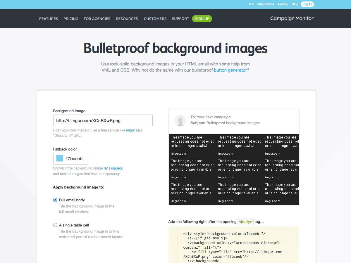 Bulletproof background images