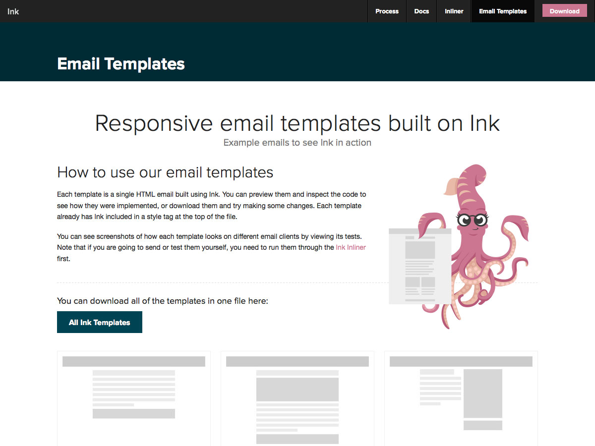 Responsive email templates built on Ink