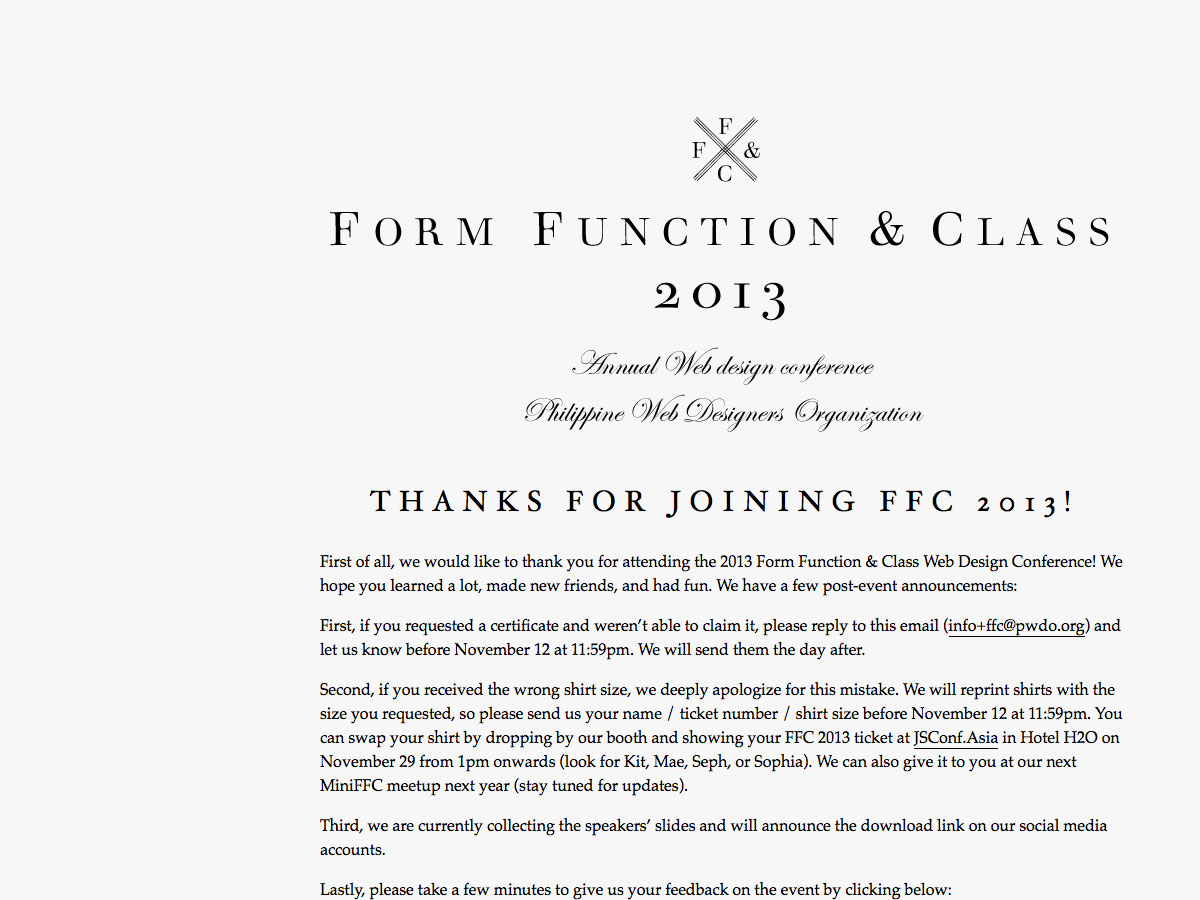 form function class