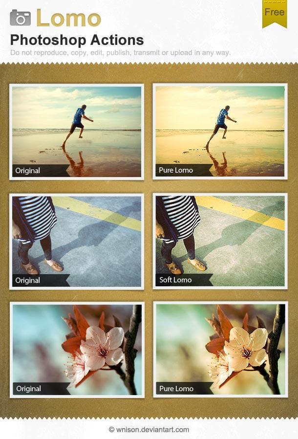 lomo photoshop actions
