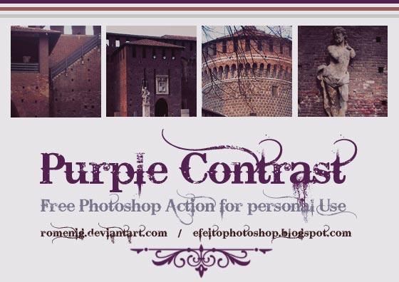 purple contrast