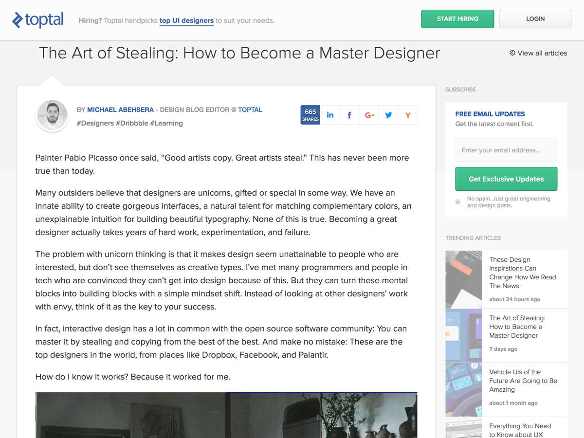 Popular design news of the week october 31 2016 november 6 the art of stealing how to become a master designer biocorpaavc Image collections