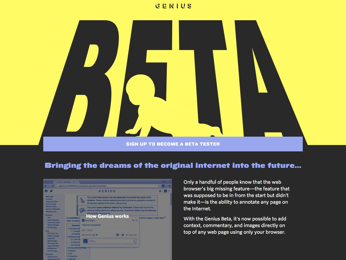 genius beta