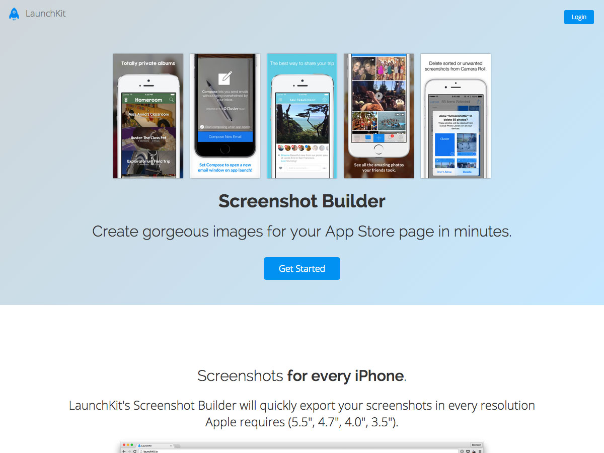 screenshot builder