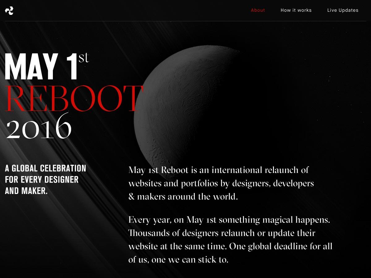 may 1st reboot