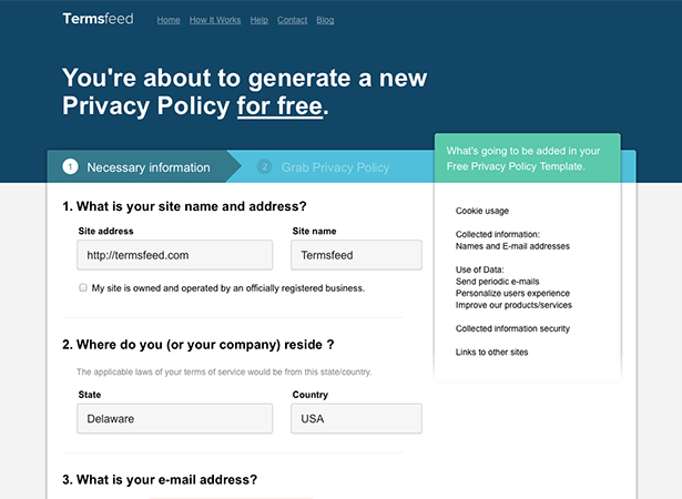 privacy policy generator