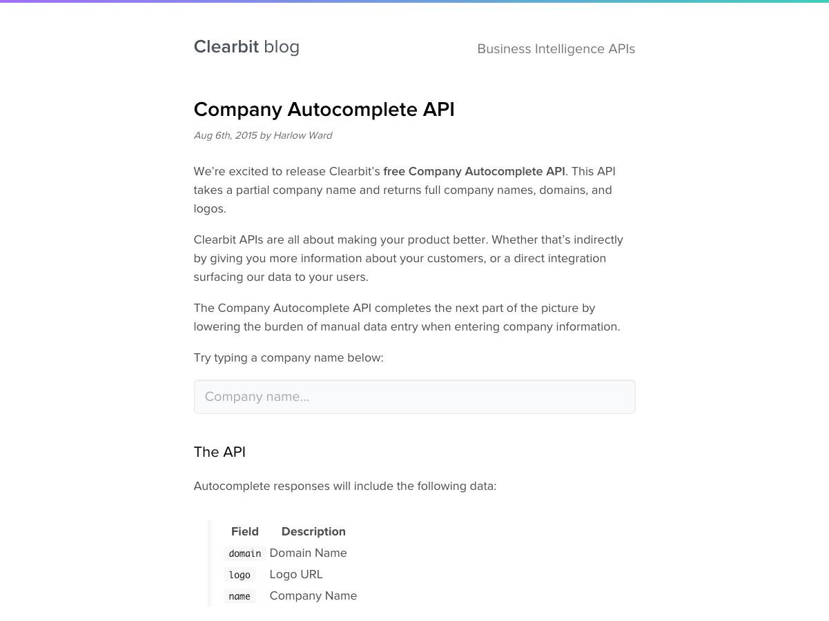company autocomplete api