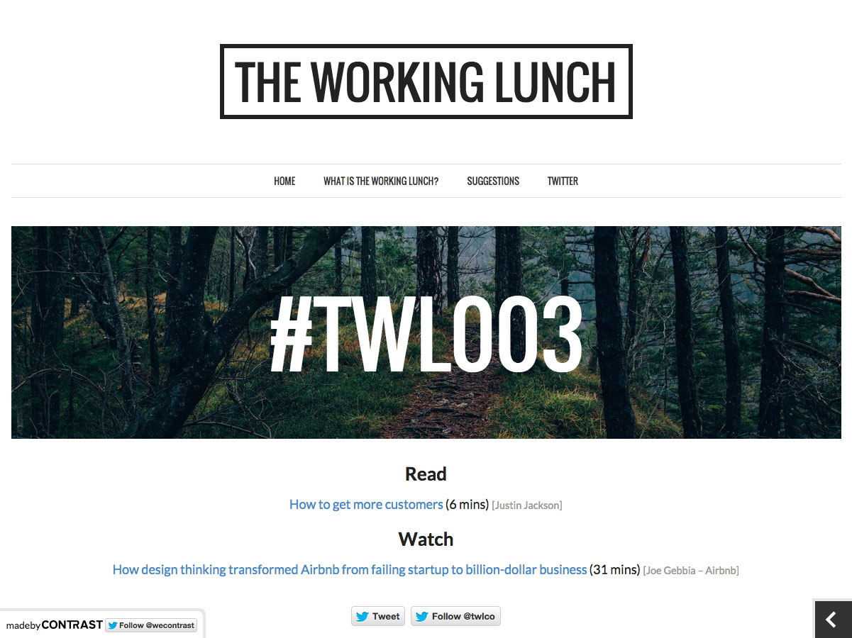 the working lunch