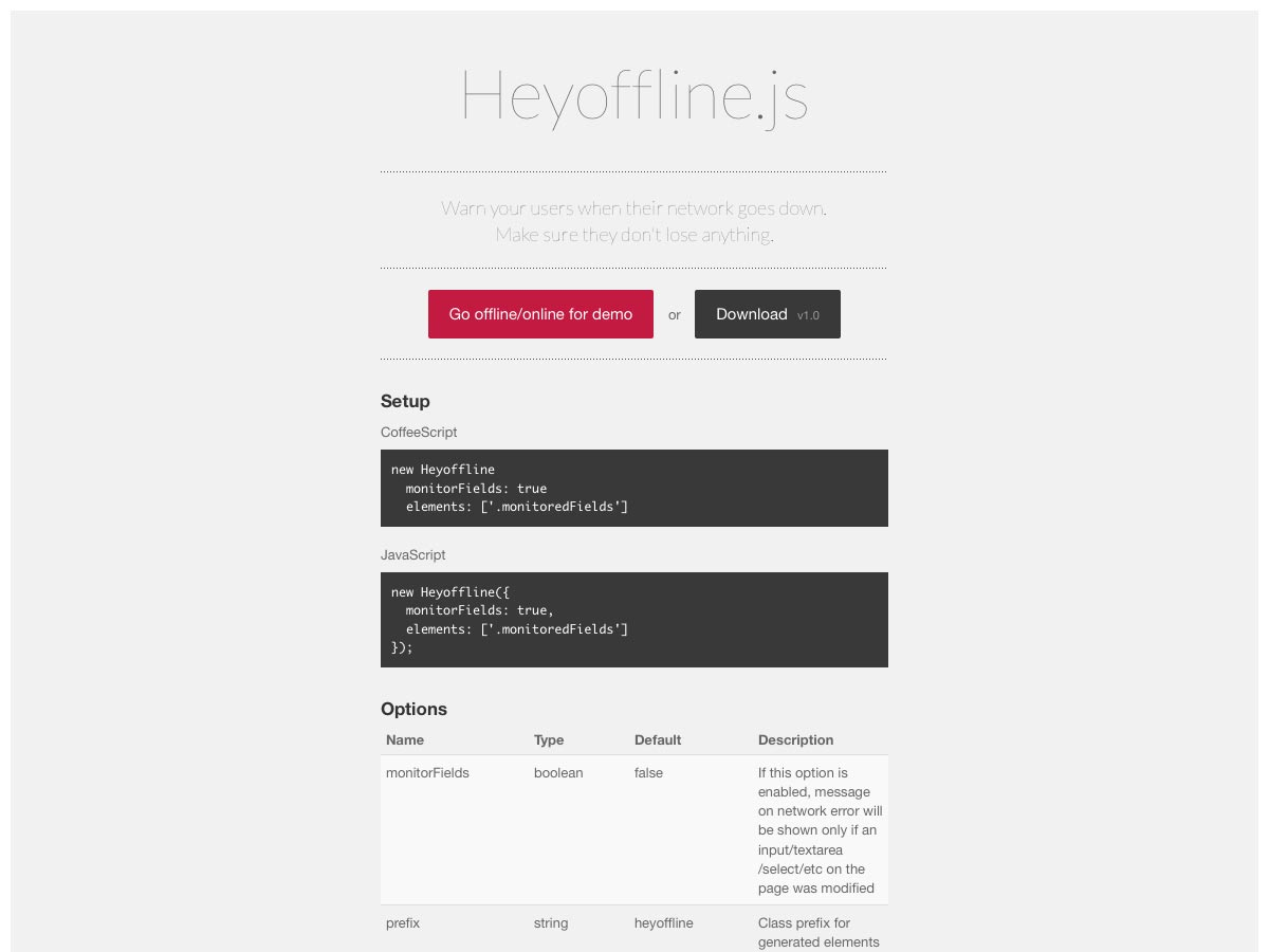 heyoffline