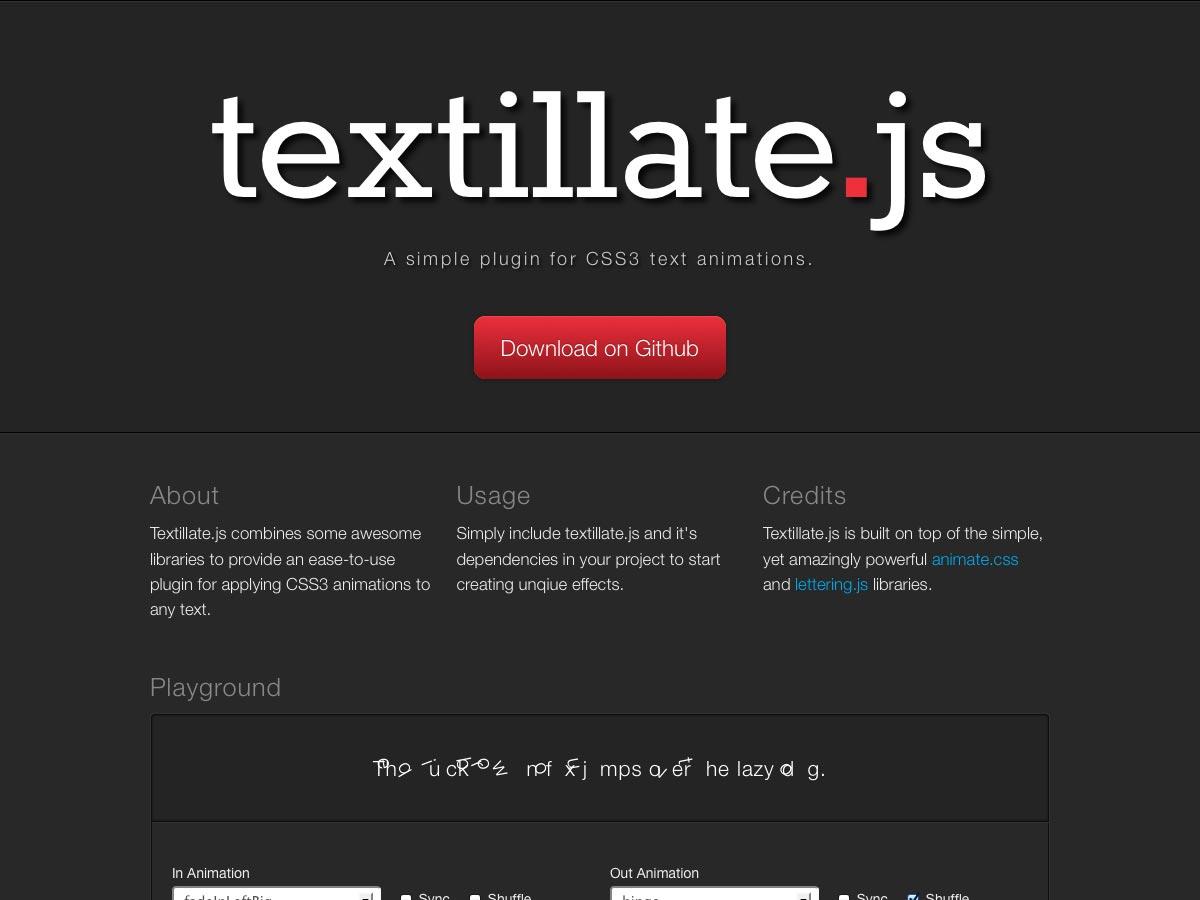 textillate