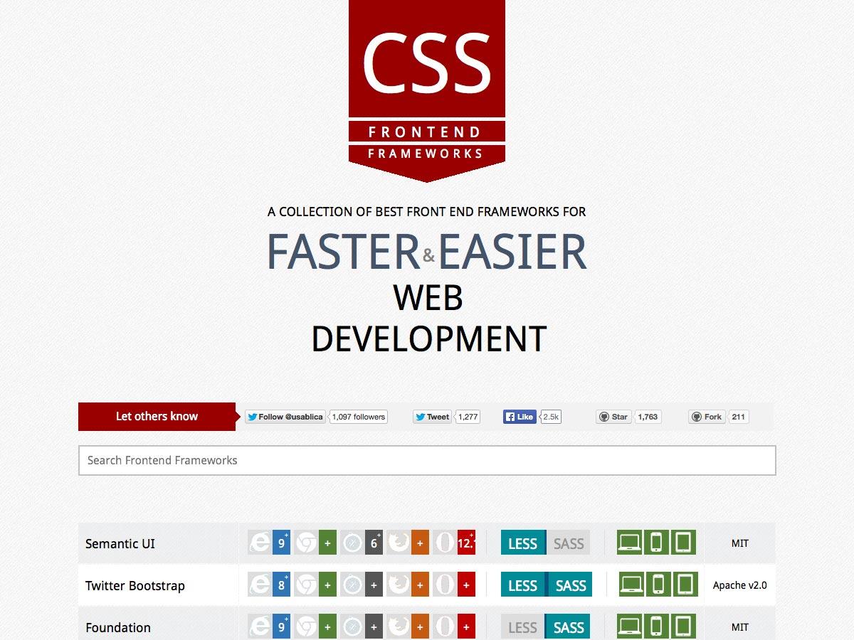 css front-end frameworks