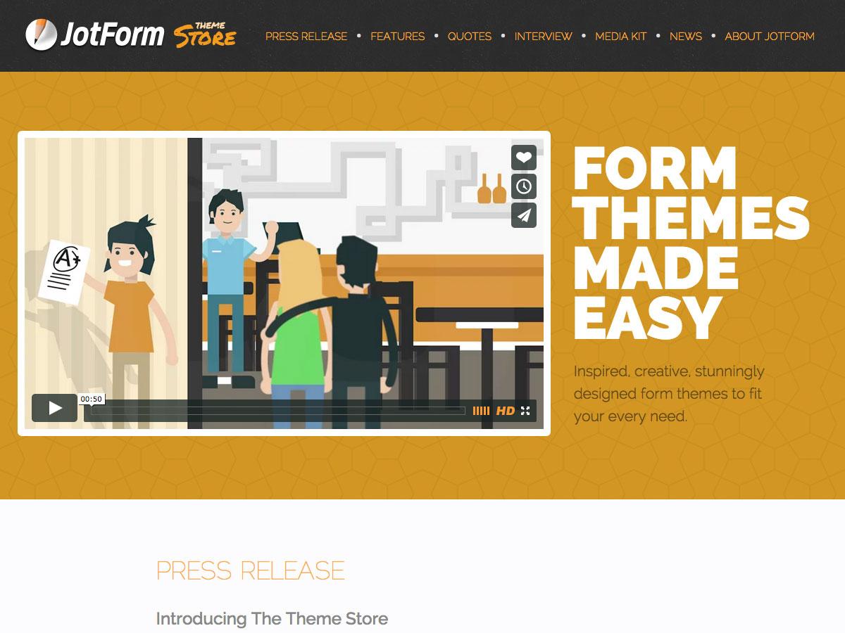 jotform theme store