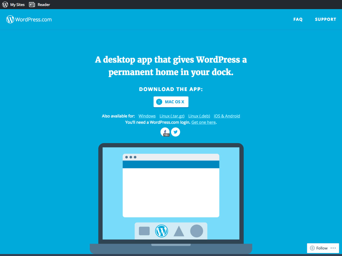 wordpress desktop