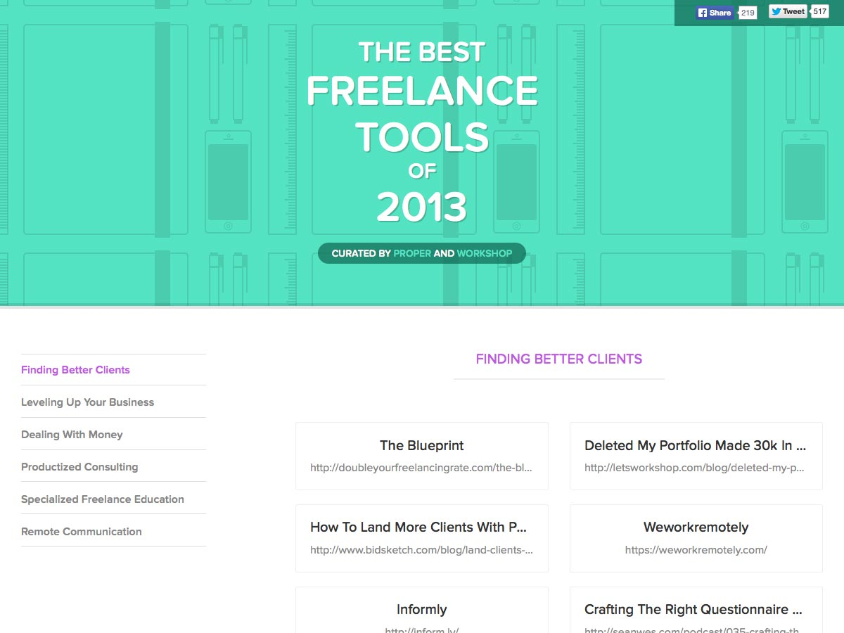 best freelance tools of 2013