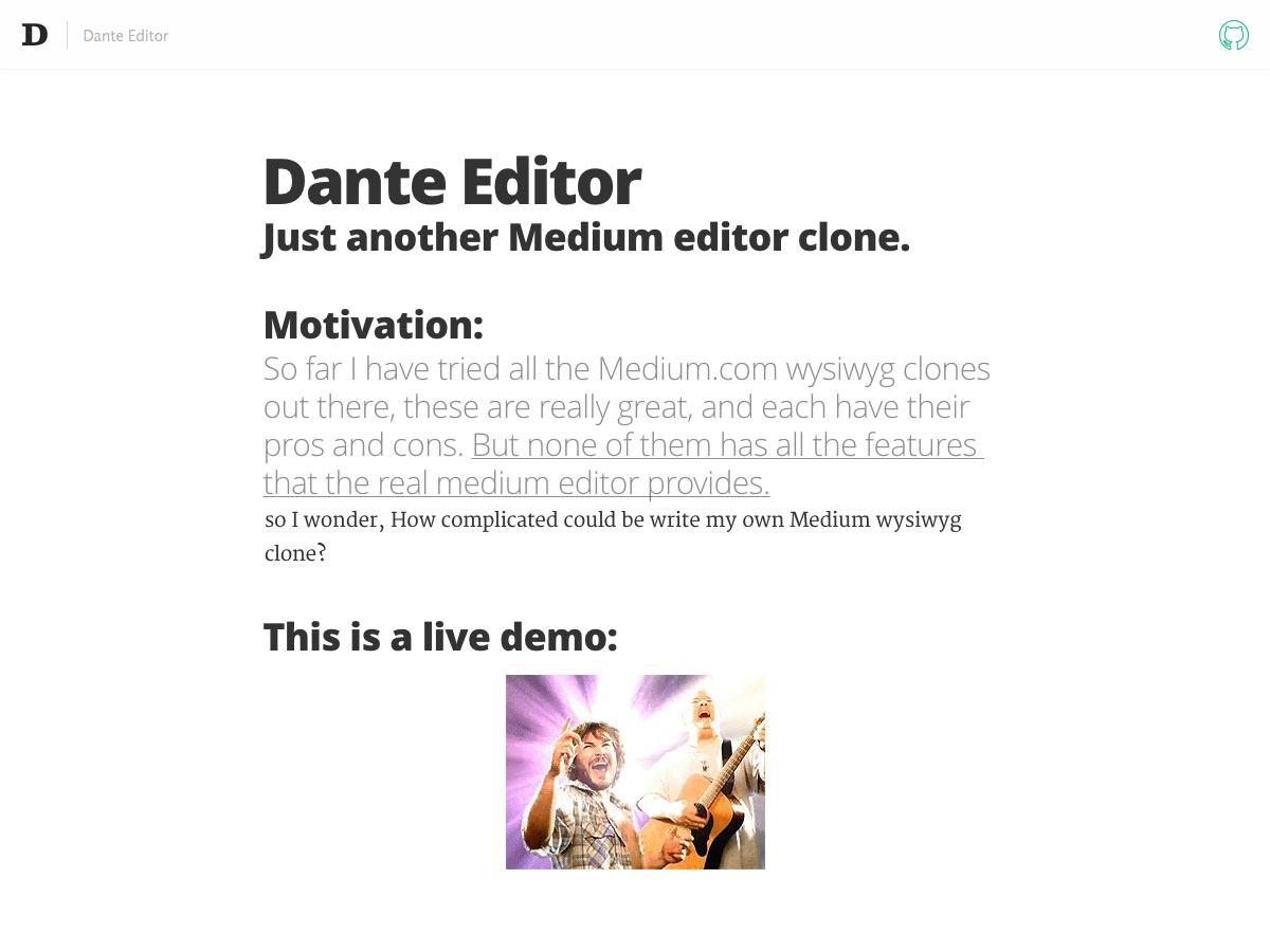 dante editor
